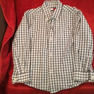 Boys size 5 Tommy Hilfiger plaid LS shirt